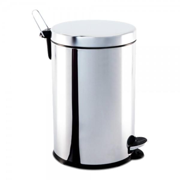 Lixeira Inox com Pedal e balde 12 litros