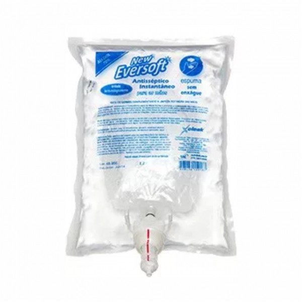 Álcool Espuma New Eversoft  Antisséptico 1200ml